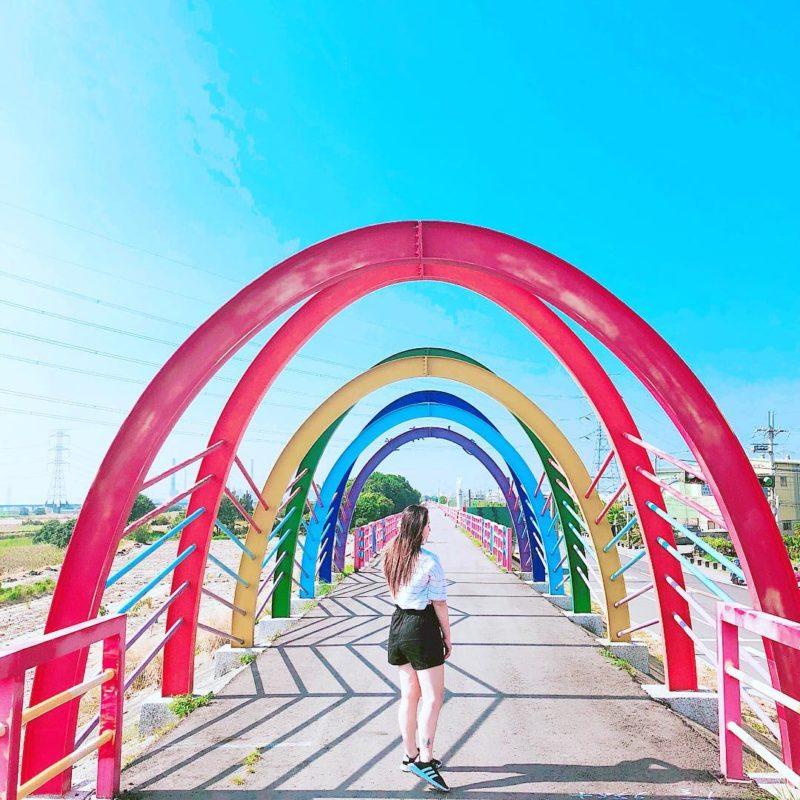 龍井堤防自行車道,彩虹廊道,台中龍井區景點