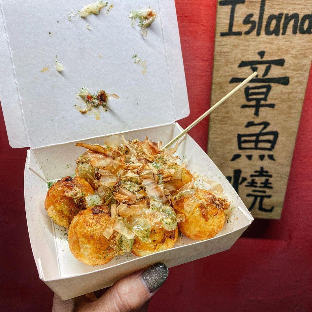蘭嶼美食東清夜市飛魚卵章魚燒